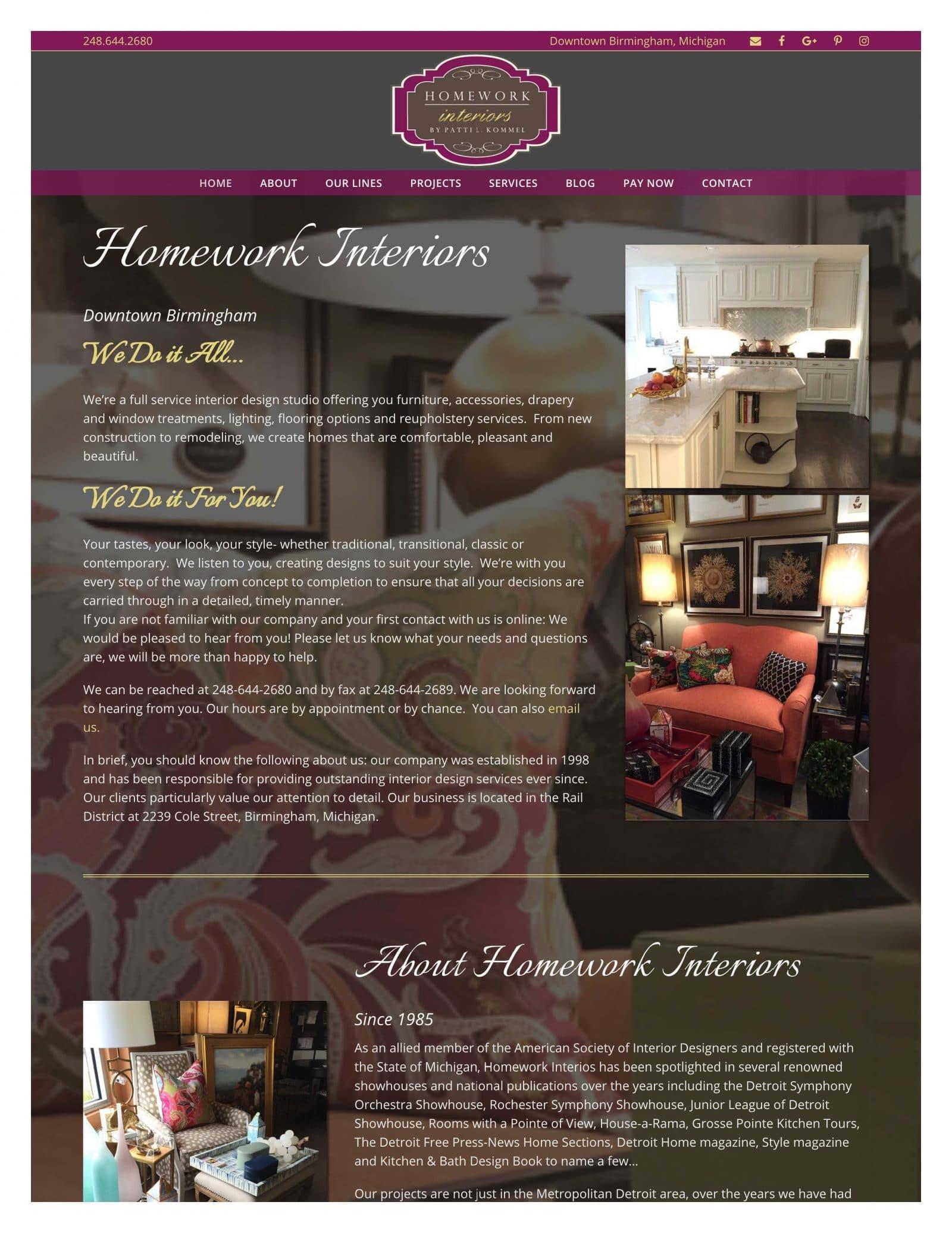 homework interiors